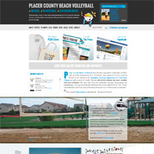 web design placer county beach volleyball
