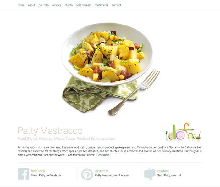 Patty Mastracco Food, Inc. (idofood.com - site and logo design)